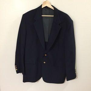 Vintage Oakmont Two Button Wool Suit Jacket Sz 46S